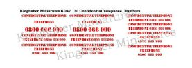 NI Confidential Telephone Numbers Type 2 - Red